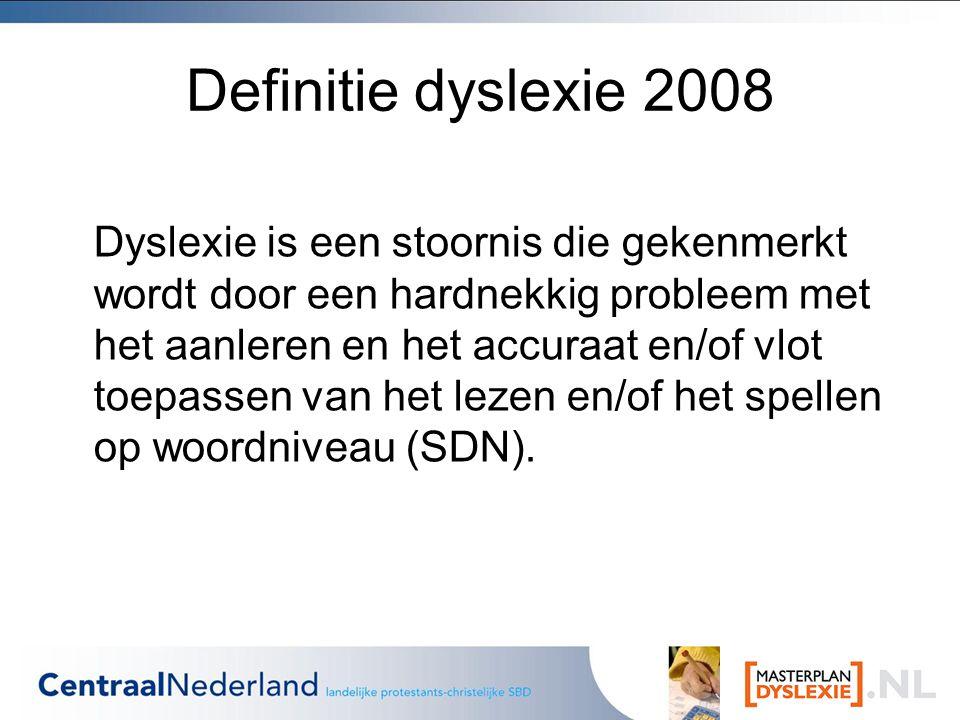 Definitie dyslexie 2008