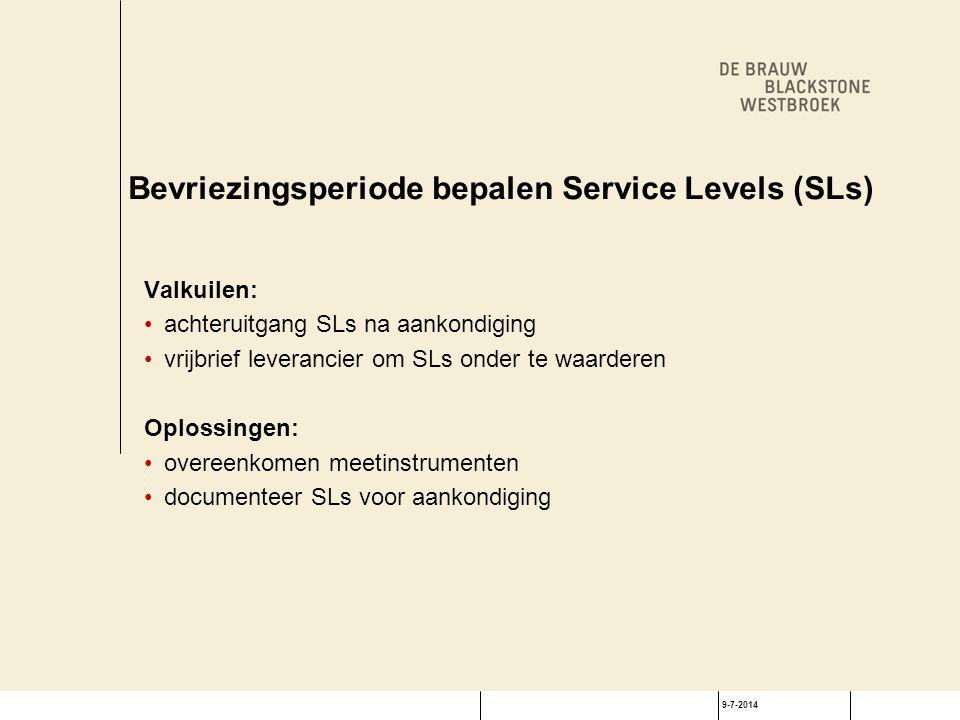 Traditionele valkuilen SLAs - service credits