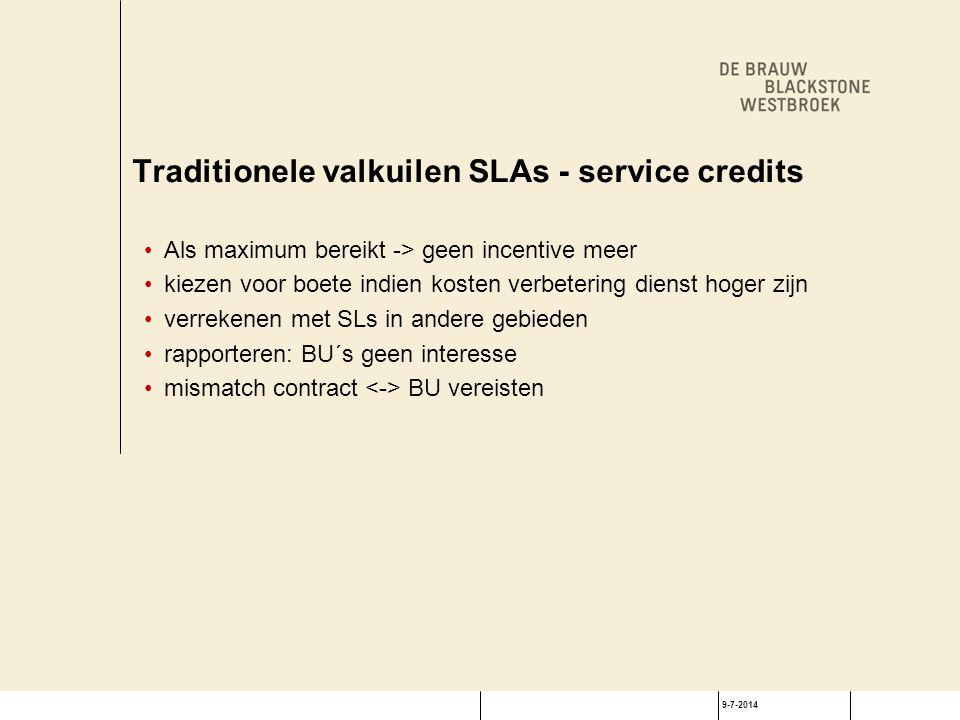 Oplossingen: link SLs aan KPIs betere aansluiting behoeften BUs