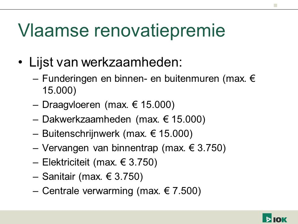 Vlaamse renovatiepremie