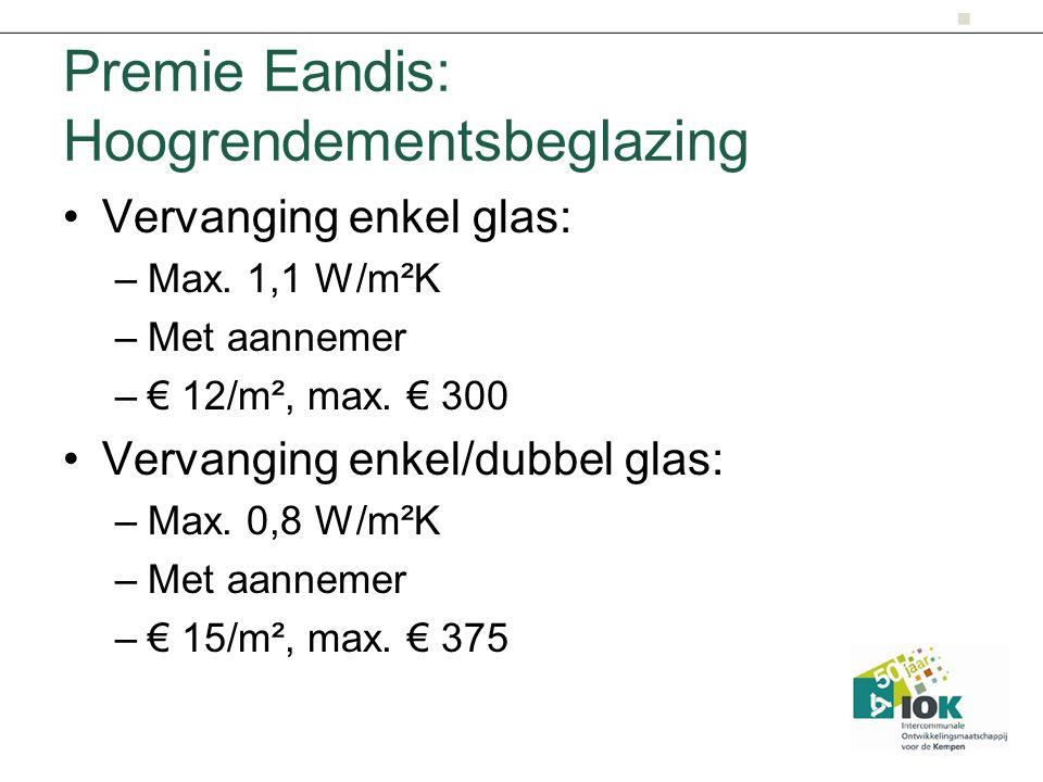 Premie Eandis: Hoogrendementsbeglazing