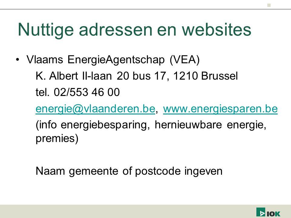 Nuttige adressen en websites