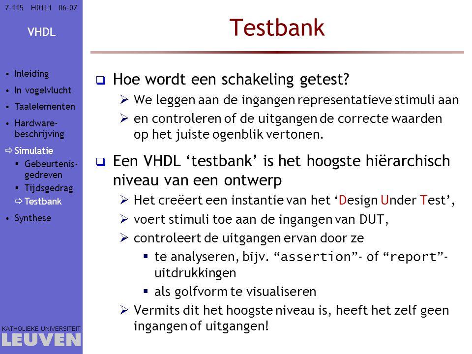 Testbank Hoe wordt een schakeling getest