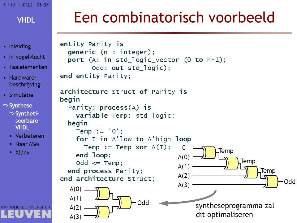 Een combinatorisch voorbeeld
