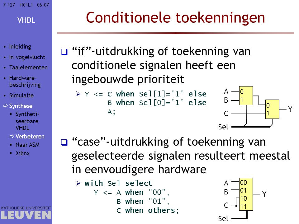 Conditionele toekenningen