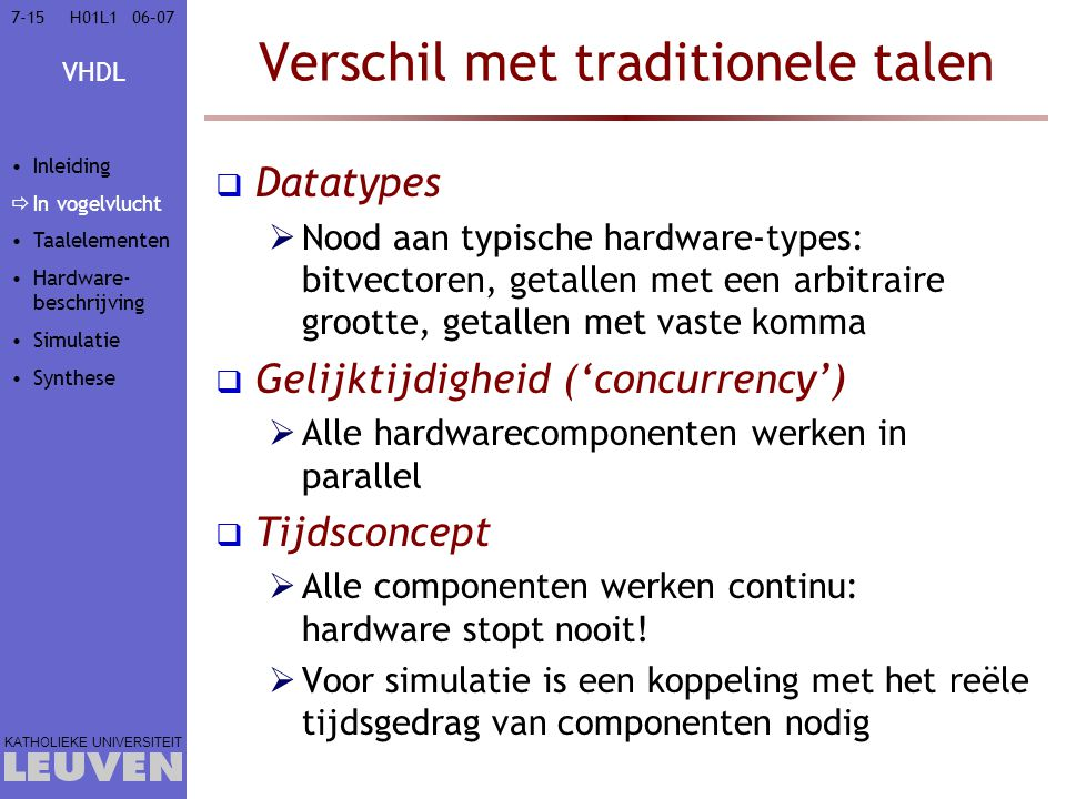 Verschil met traditionele talen