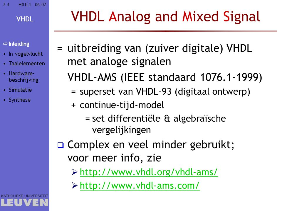 VHDL Analog and Mixed Signal