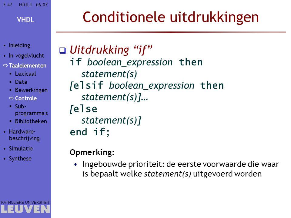 Conditionele uitdrukkingen