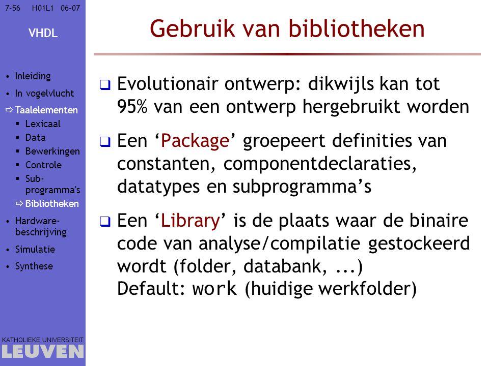 Gebruik van bibliotheken