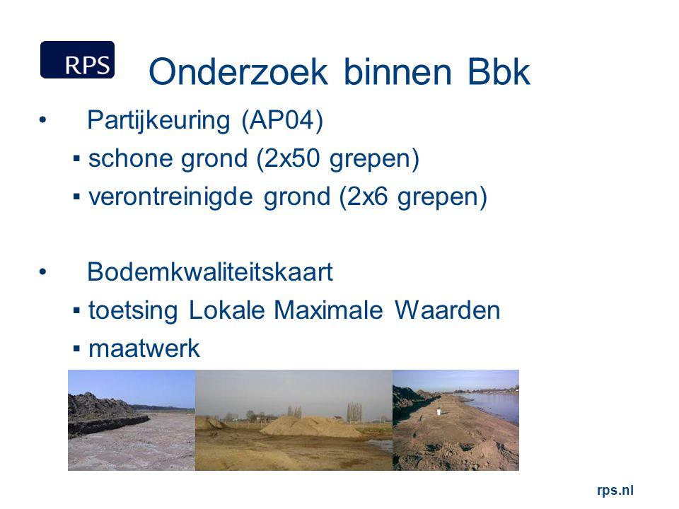 Onderzoek binnen Bbk Partijkeuring (AP04) schone grond (2x50 grepen)