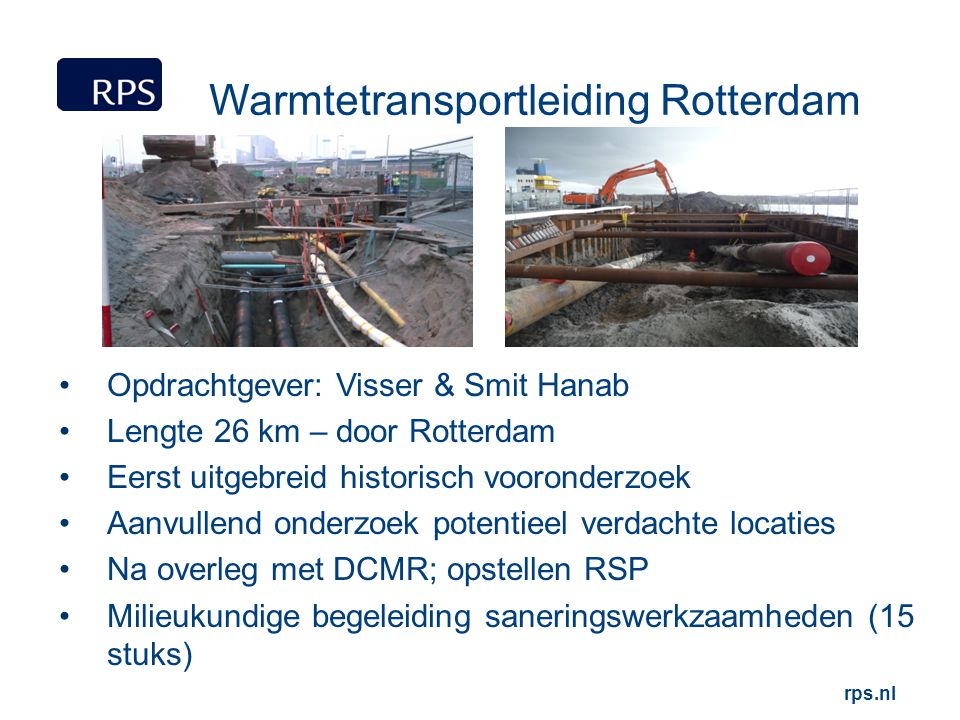 Warmtetransportleiding Rotterdam