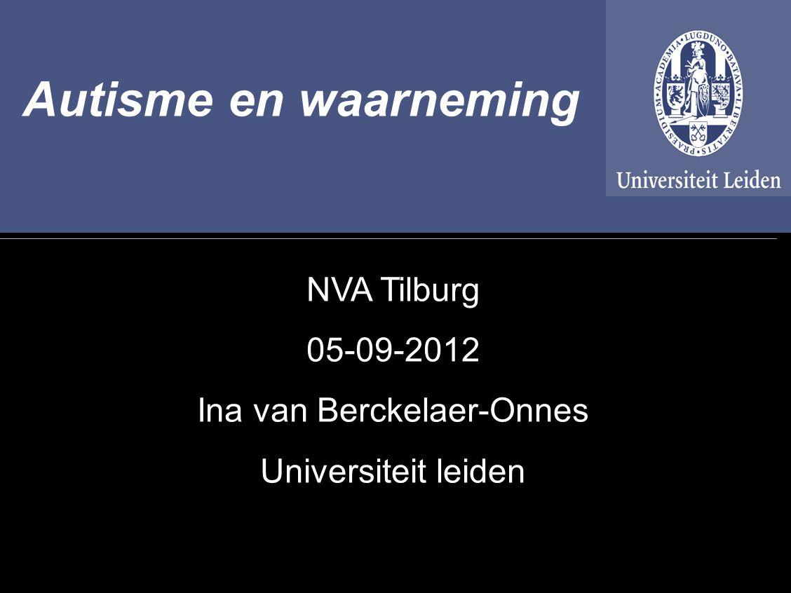 Autisme en waarneming 05-09-2012