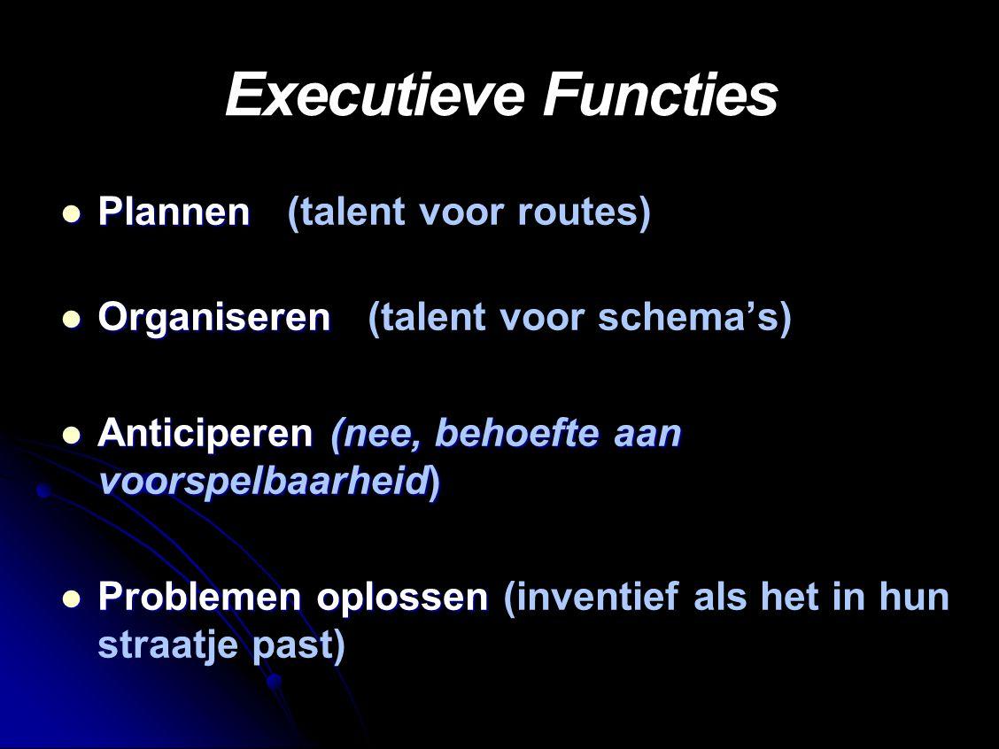 Executieve Functies Plannen (talent voor routes)