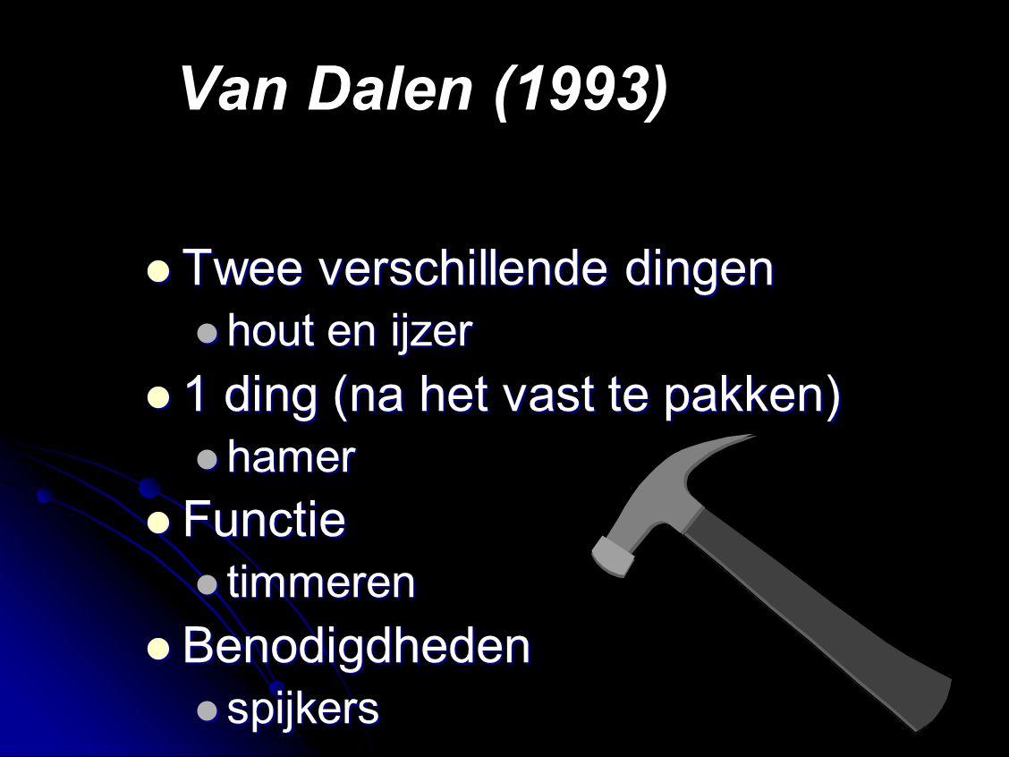 Van Dalen (1993) Twee verschillende dingen