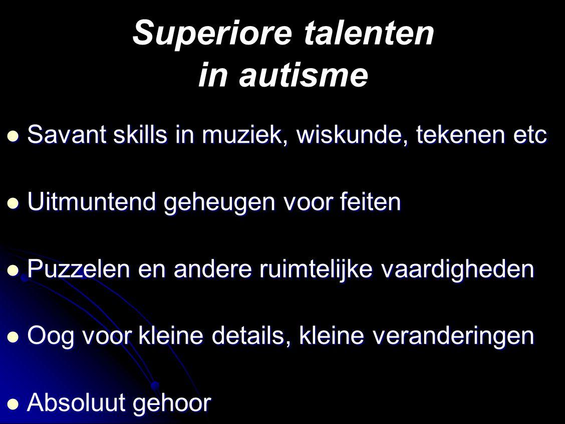 Superiore talenten in autisme