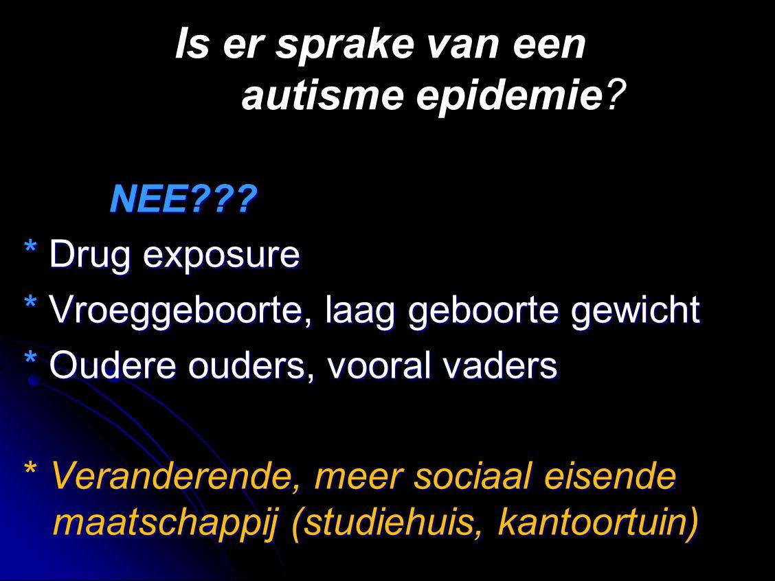 Is er sprake van een autisme epidemie
