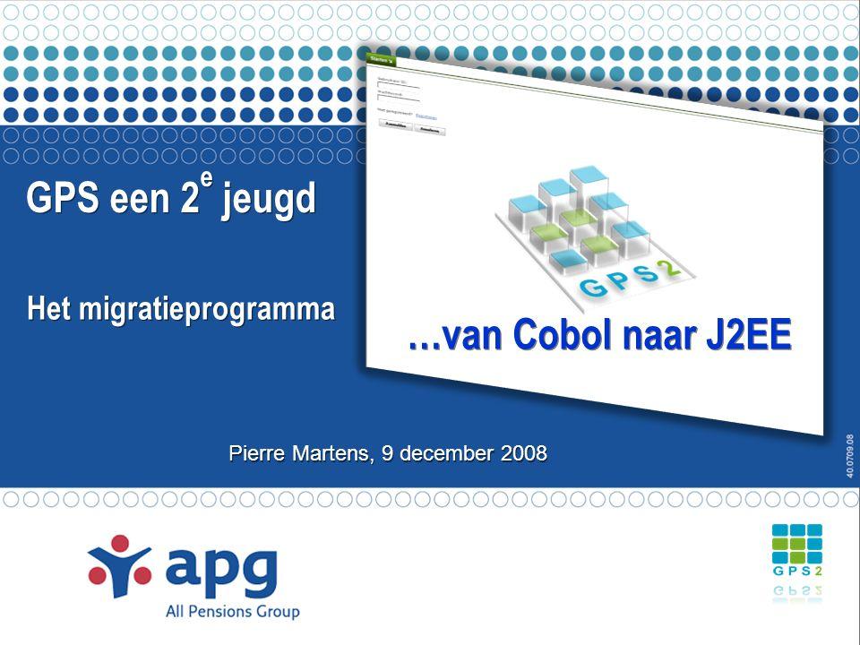 Agenda APG – Wie zijn we GPS 2e jeugd programma