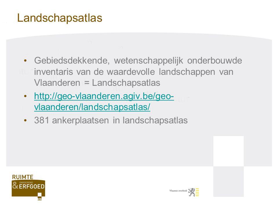 Landschapsatlas Gebiedsdekkende, wetenschappelijk onderbouwde inventaris van de waardevolle landschappen van Vlaanderen = Landschapsatlas.