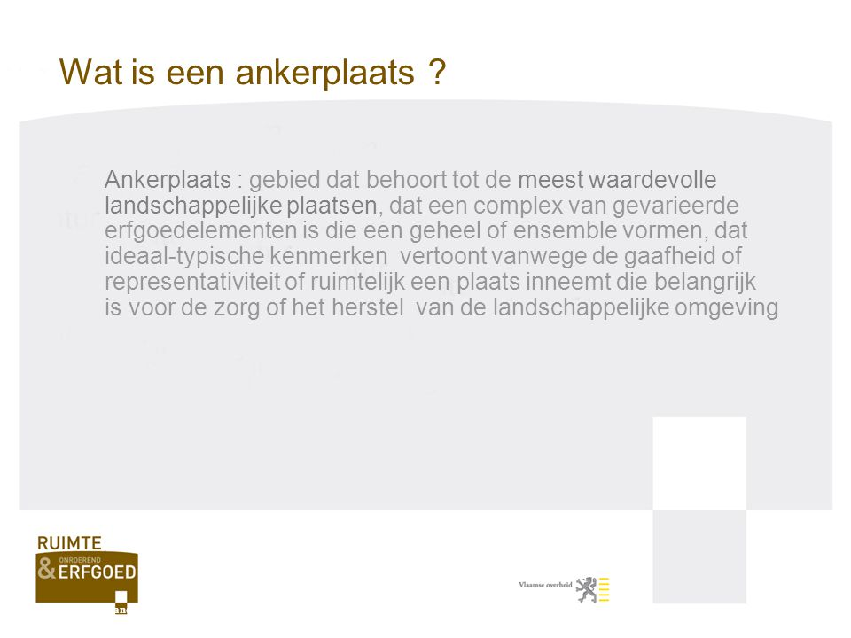 Wat is een ankerplaats