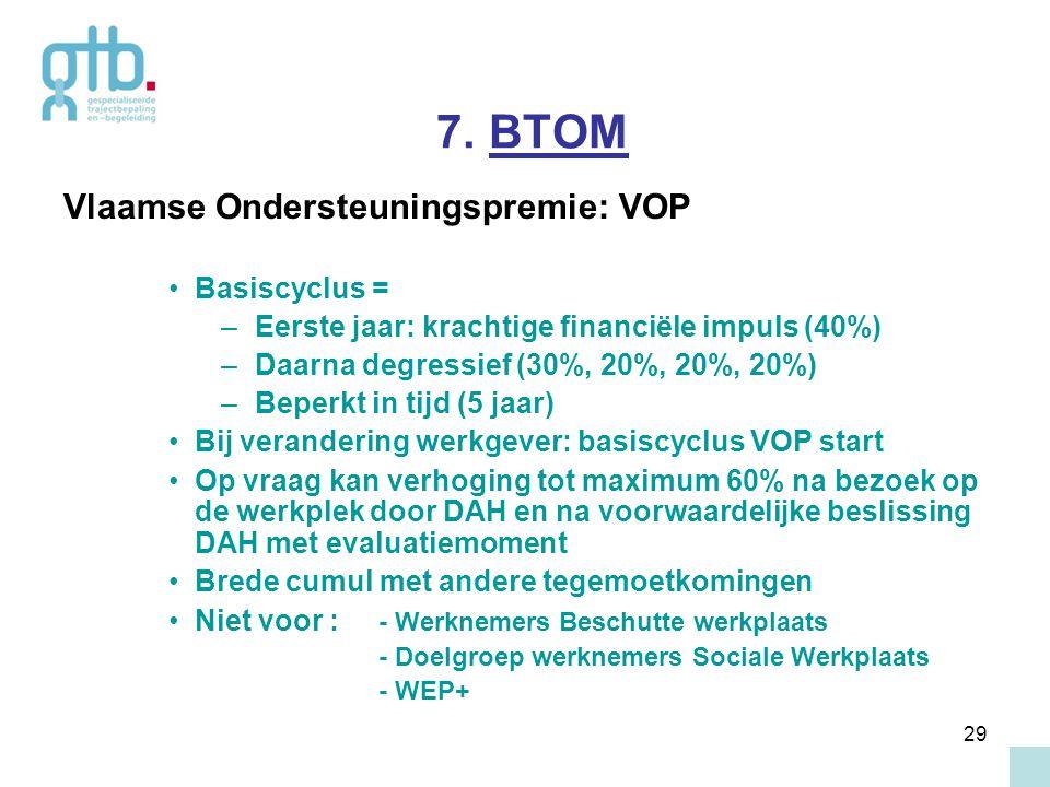 7. BTOM Vlaamse Ondersteuningspremie: VOP Basiscyclus =