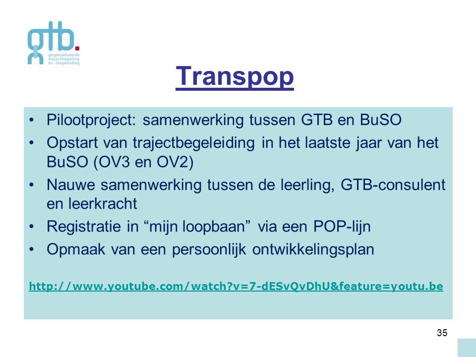 Transpop Pilootproject: samenwerking tussen GTB en BuSO
