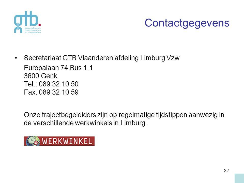 Contactgegevens Secretariaat GTB Vlaanderen afdeling Limburg Vzw