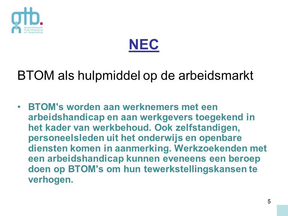 NEC BTOM als hulpmiddel op de arbeidsmarkt
