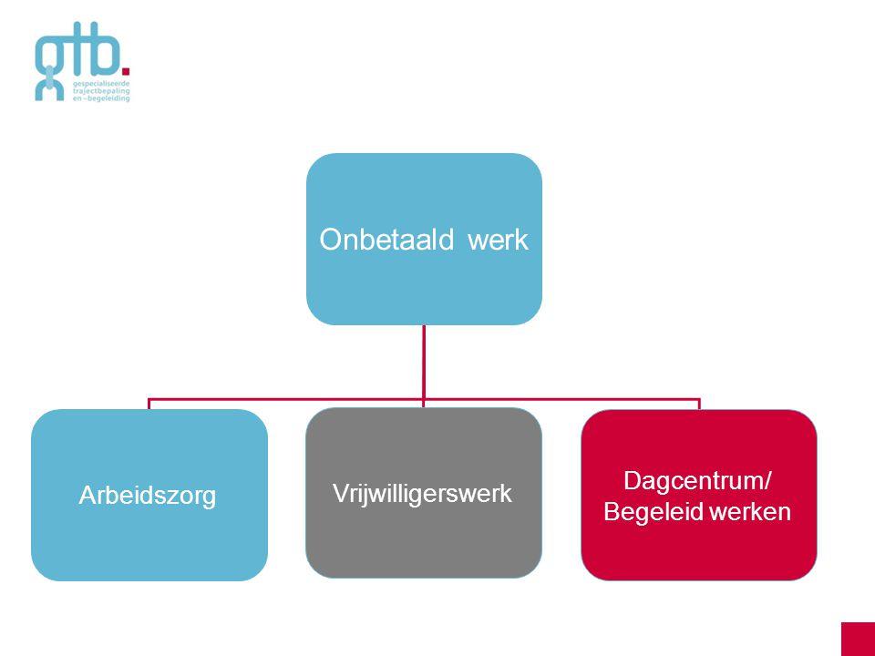 Onbetaald werk Dagcentrum/ Arbeidszorg Vrijwilligerswerk