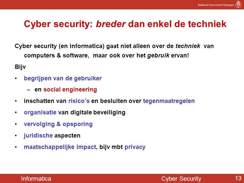 Cyber security: breder dan enkel de techniek