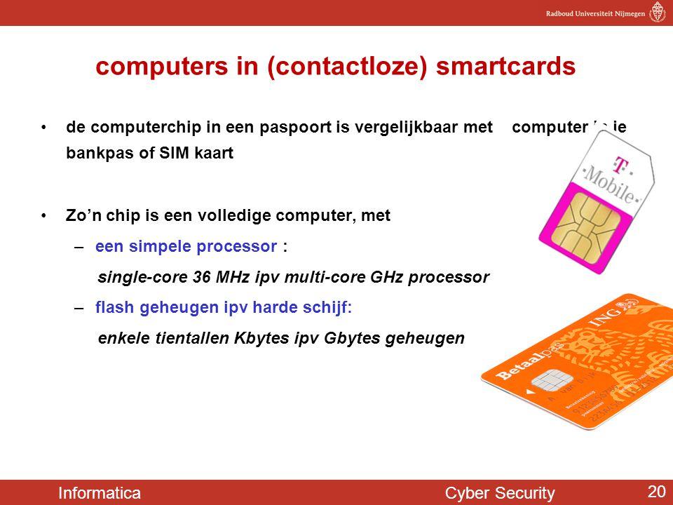 computers in (contactloze) smartcards