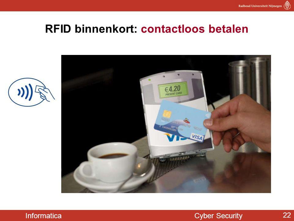 RFID binnenkort: contactloos betalen