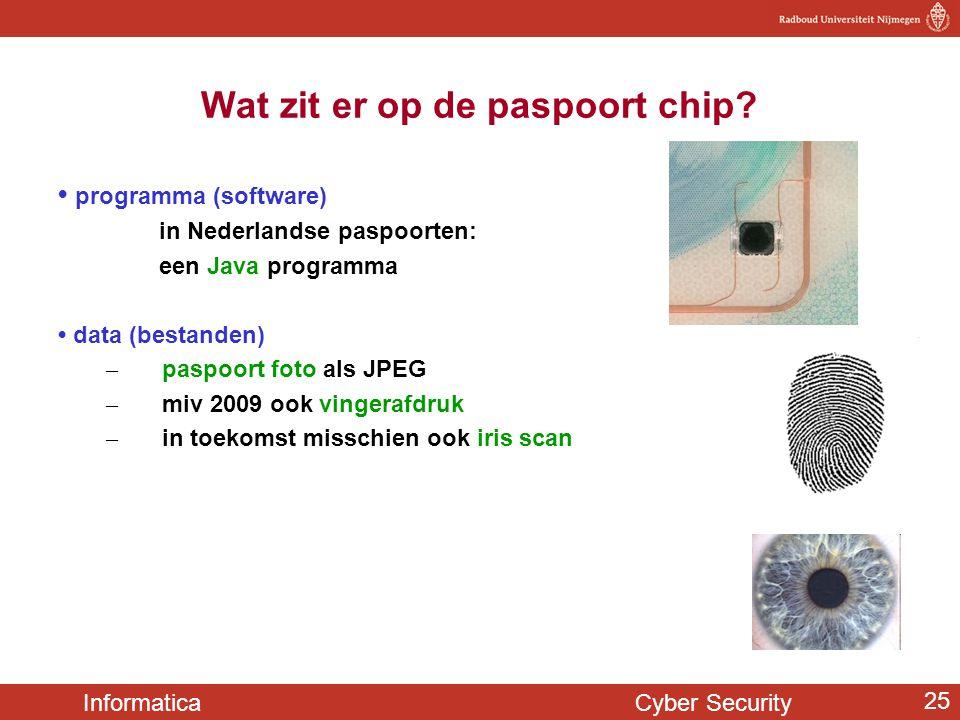 Wat zit er op de paspoort chip