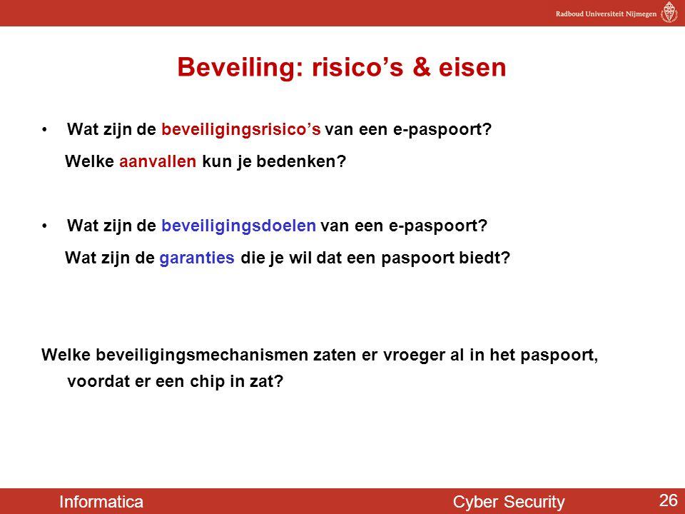 Beveiling: risico's & eisen