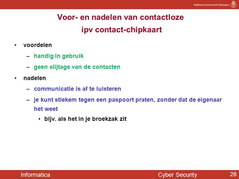 Voor- en nadelen van contactloze ipv contact-chipkaart