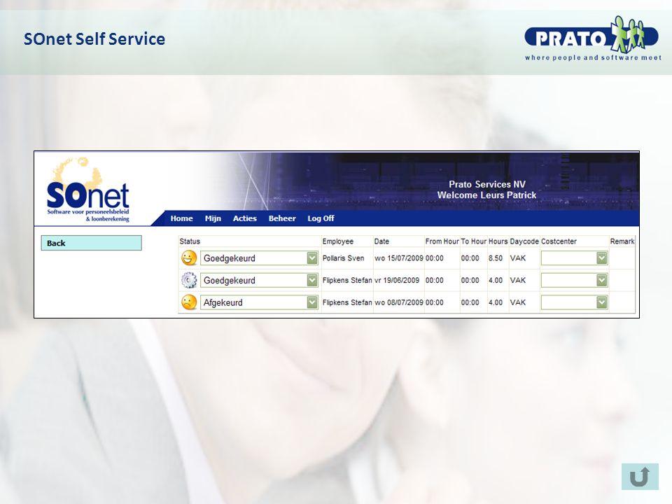 SOnet Self Service