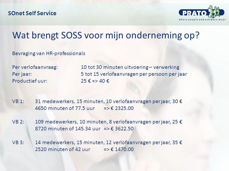 Wat brengt SOSS voor mijn onderneming op