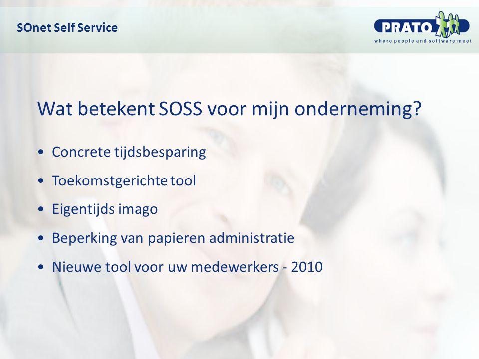 Wat betekent SOSS voor mijn onderneming