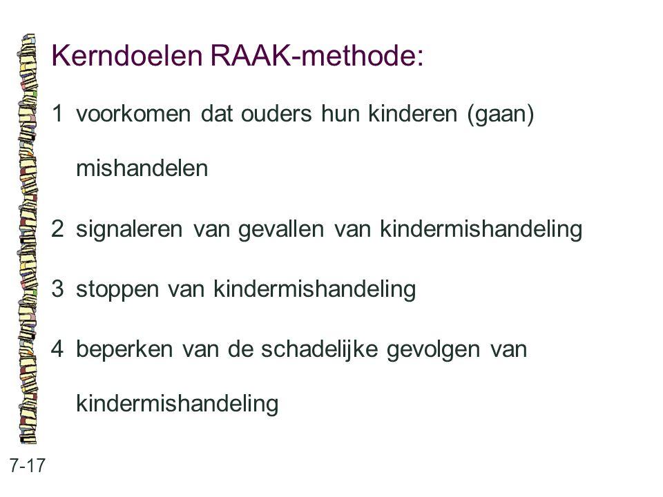 Kerndoelen RAAK-methode: