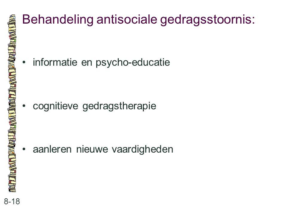 Behandeling antisociale gedragsstoornis: