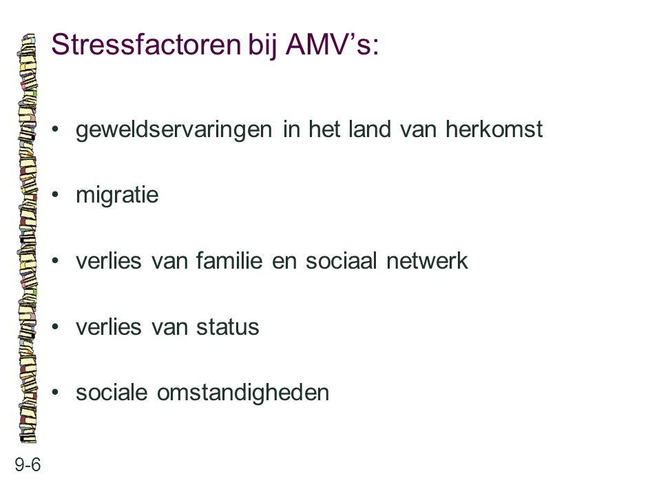 Stressfactoren bij AMV's: