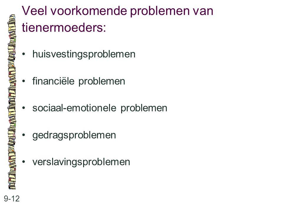 Veel voorkomende problemen van tienermoeders: