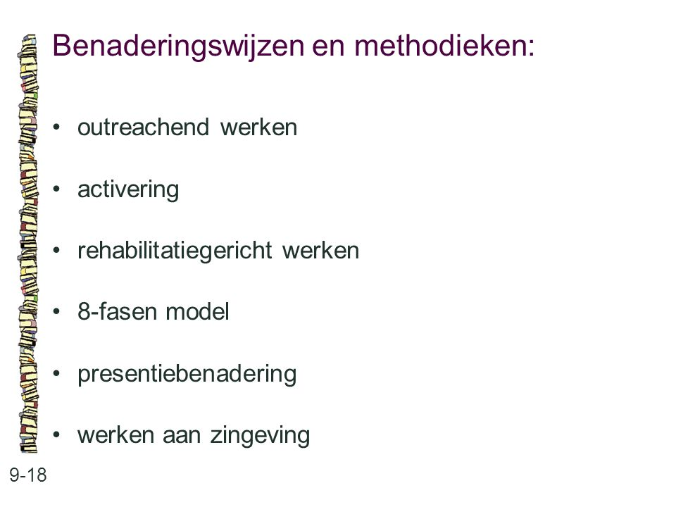 Benaderingswijzen en methodieken: