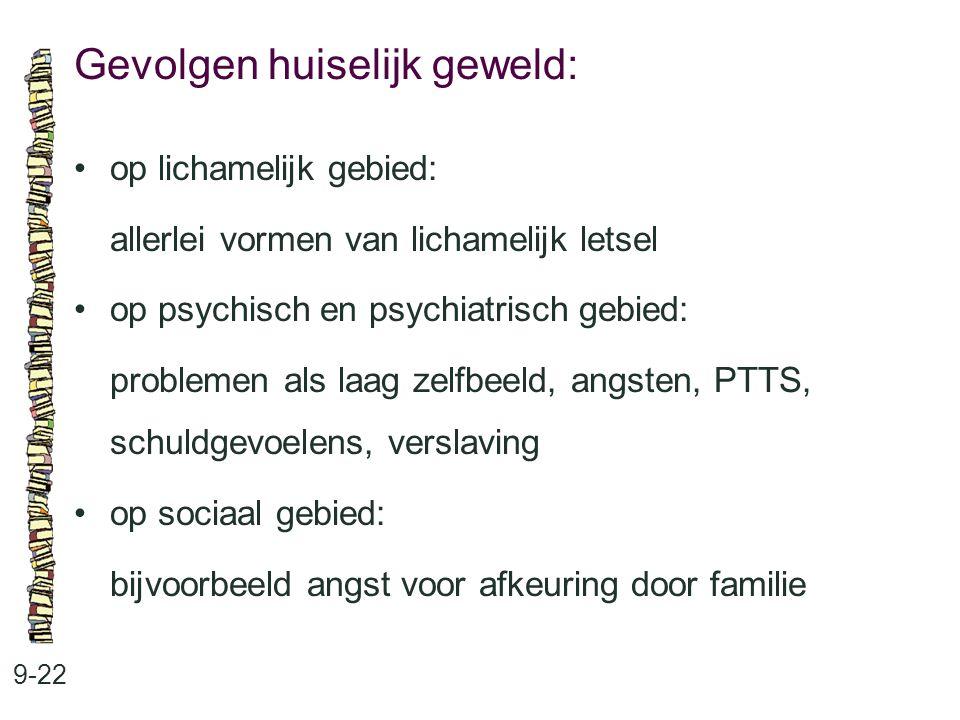 Gevolgen huiselijk geweld: