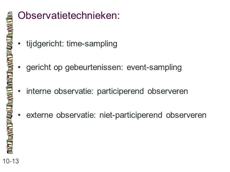 Observatietechnieken: