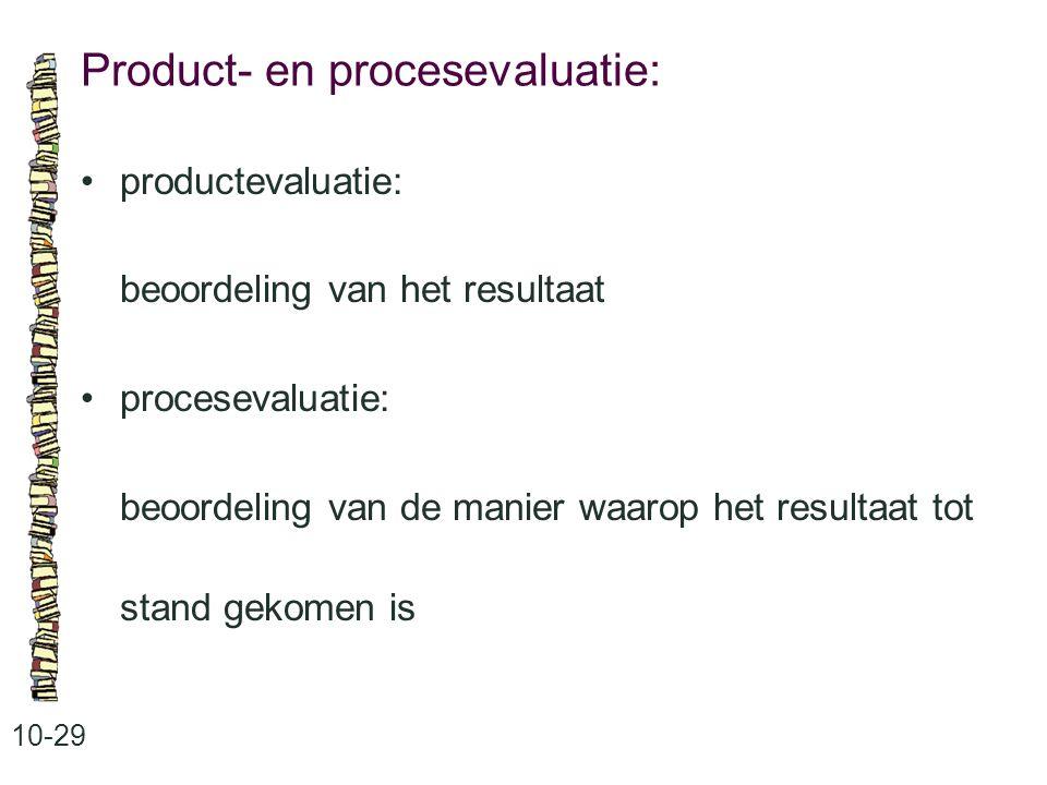 Product- en procesevaluatie: