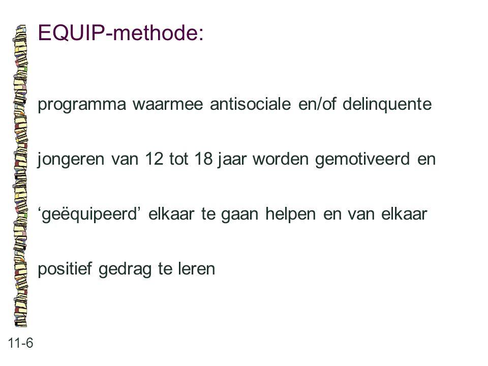EQUIP-methode: programma waarmee antisociale en/of delinquente