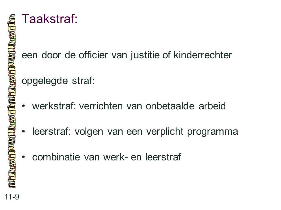 Taakstraf: een door de officier van justitie of kinderrechter