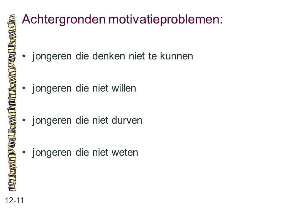 Achtergronden motivatieproblemen: