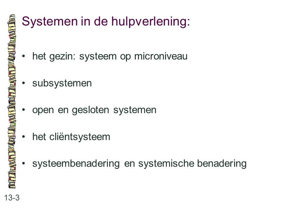 Systemen in de hulpverlening: