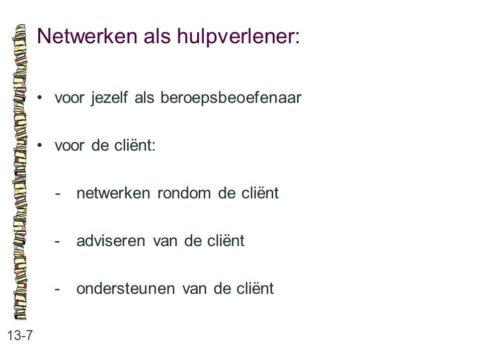 Netwerken als hulpverlener: